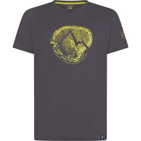 La Sportiva Cross Section Camiseta Hombre, carbon/kiwi